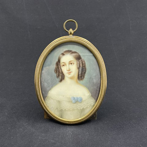 Large miniature portrait of empire woman